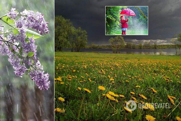 В Украине 25 мая будет прохладно и дождливо