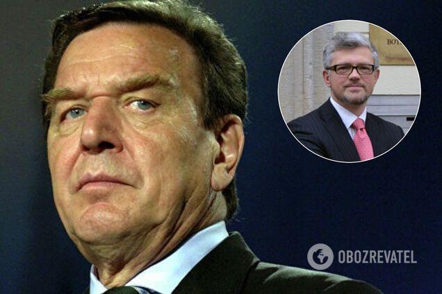 Экс-канцлер Германии Шредер назвал посла Украины карликом: в МИД ответили
