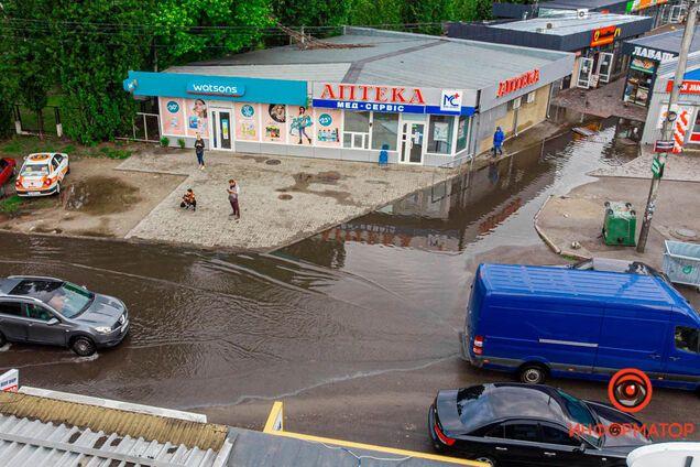 Дніпро затопило через сильну зливу
