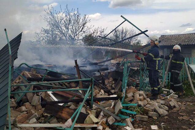 Взорвавшийся газовый баллон разрушил дом