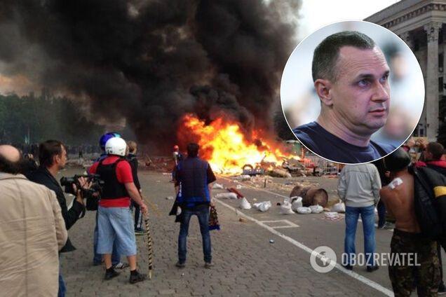 """""""Хто почав війну на Донбасі?"""" Сенцов різко відповів Зеленському через трагедію в Одесі"""