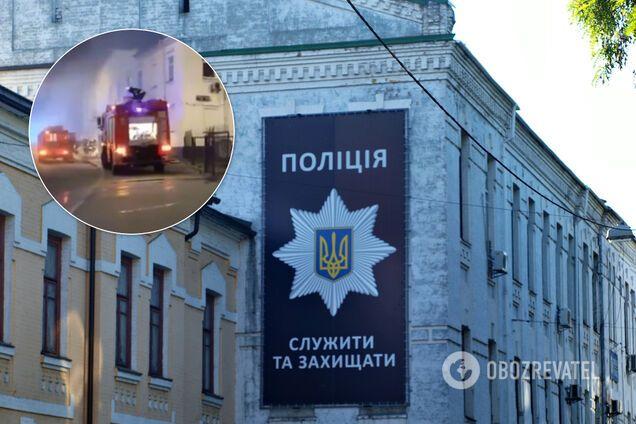 В Киеве вспыхнул пожар в здании следственного управления Нацполиции