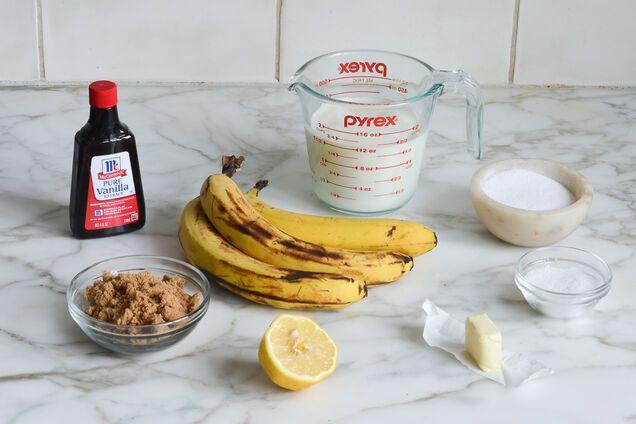 Ингредиенты бананового мороженого