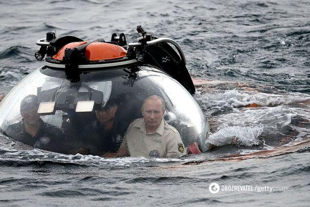 Президент РФ Владимир Путин в аннексированном Крыму