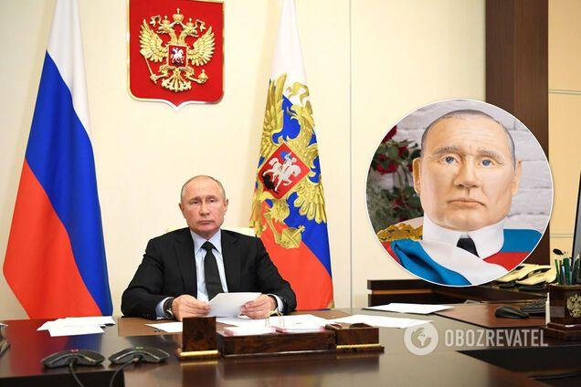 В Якутске испекли торт с головой Путина