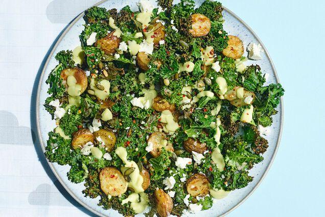 Салат из картофеля, капусты и феты