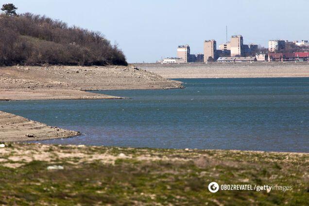 Сімферопольське водосховище перетворилося на калюжу