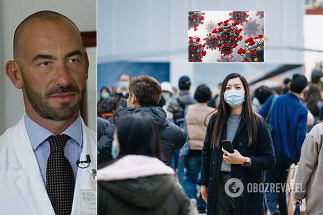 Врач из Италии Маттео Бассетти считает, что коронавирус может исчезнуть сам по себе