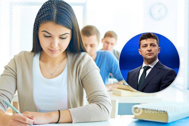 Володимир Зеленський схвалив добровільне ЗНО для школярів