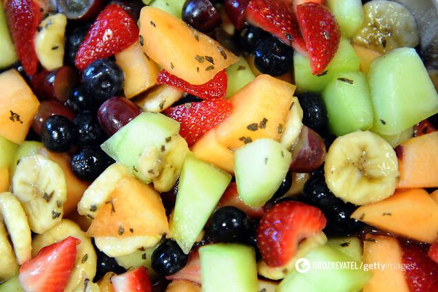 Готовые фруктовые салаты
