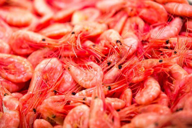 Вареные креветки – отличный продукт для диеты