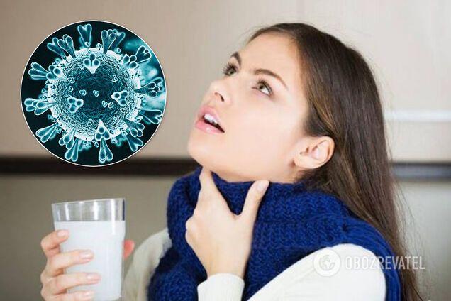 Ученые изучают эффективность полоскания горла солевым раствором при COVID-19