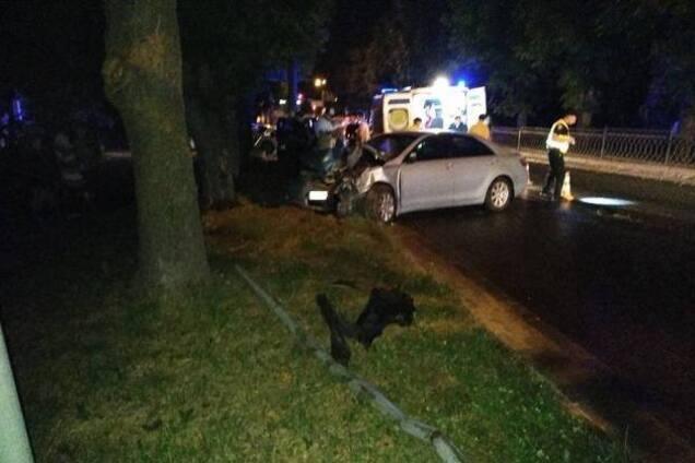 ДТП с полицейской в Ривне
