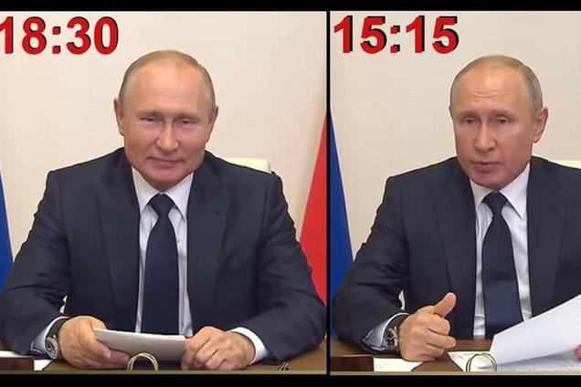"""Путина засекли на использовании """"круглоголового"""" двойника."""
