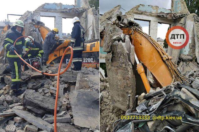 В Киеве мужчину убило бетонной плитой