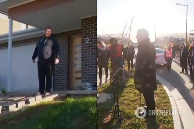 Чоловік зігнав прем'єр-міністра Австралії зі свого газону