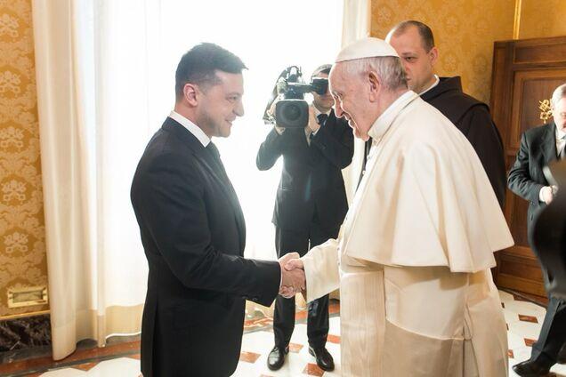 Зеленский и Папа Франциск