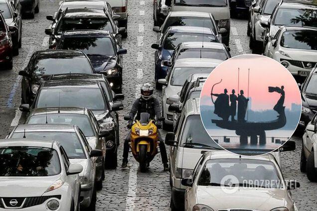 Київ перед вихідними зупинився в масштабних заторах. Ілюстрація