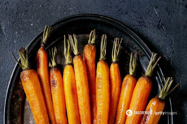 Морковь содержит много пищевых волокон