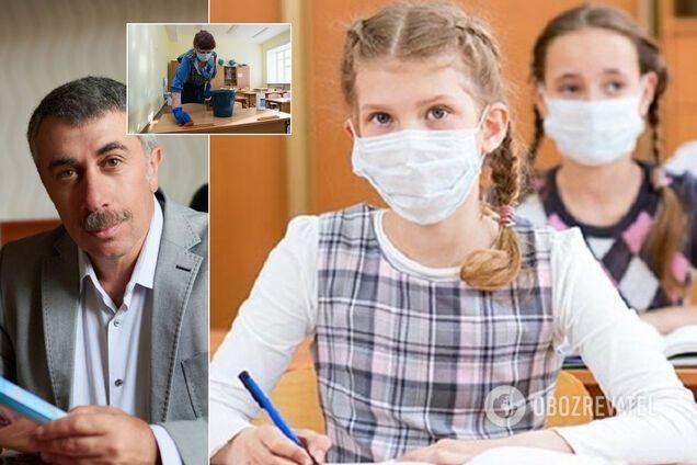 Комаровський дав поради щодо роботи шкіл в умовах карантину