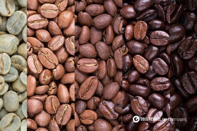 При світлому обсмажуванні в кавових зернах залишається багато кофеїну