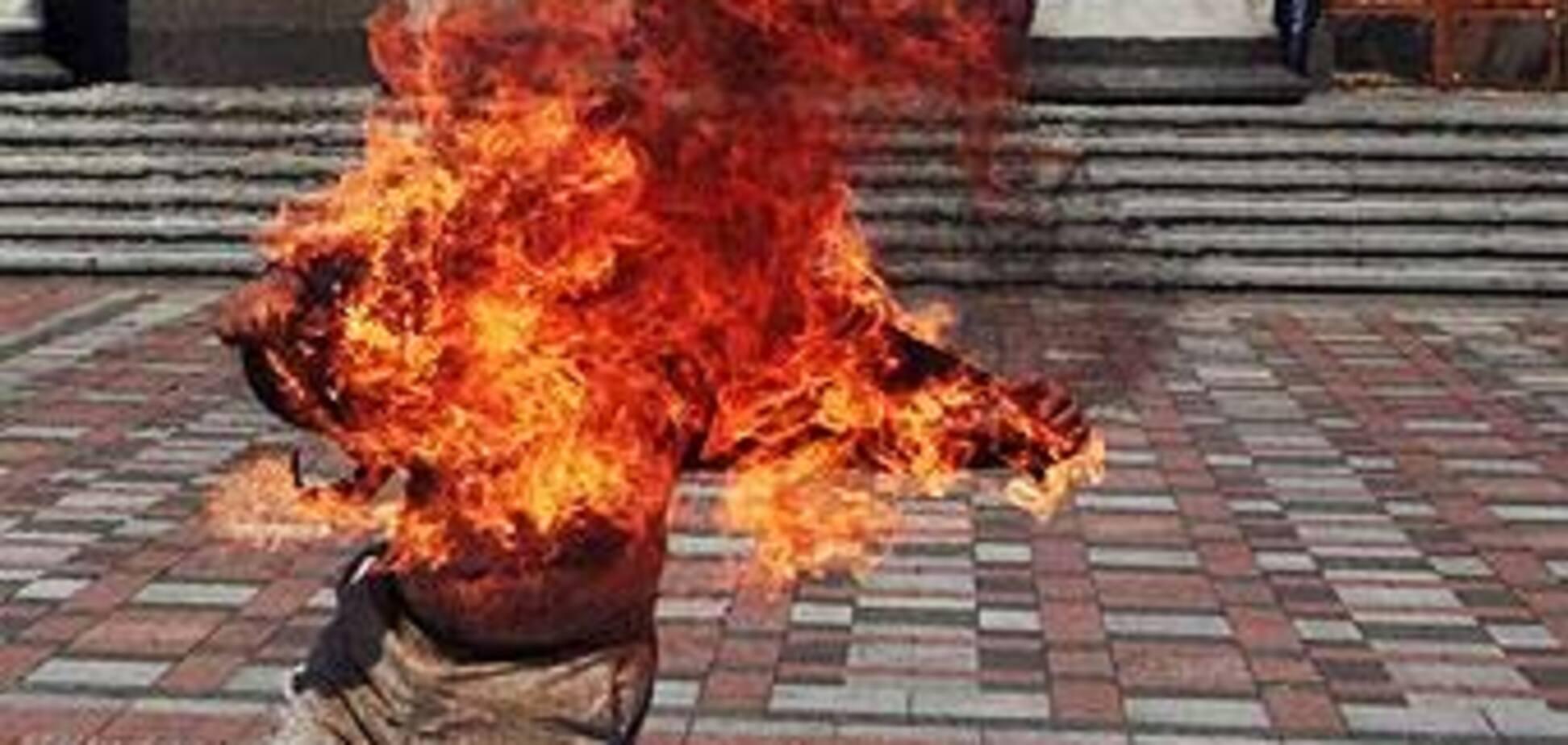 Пытавшийся сжечь себя сбежал из больницы