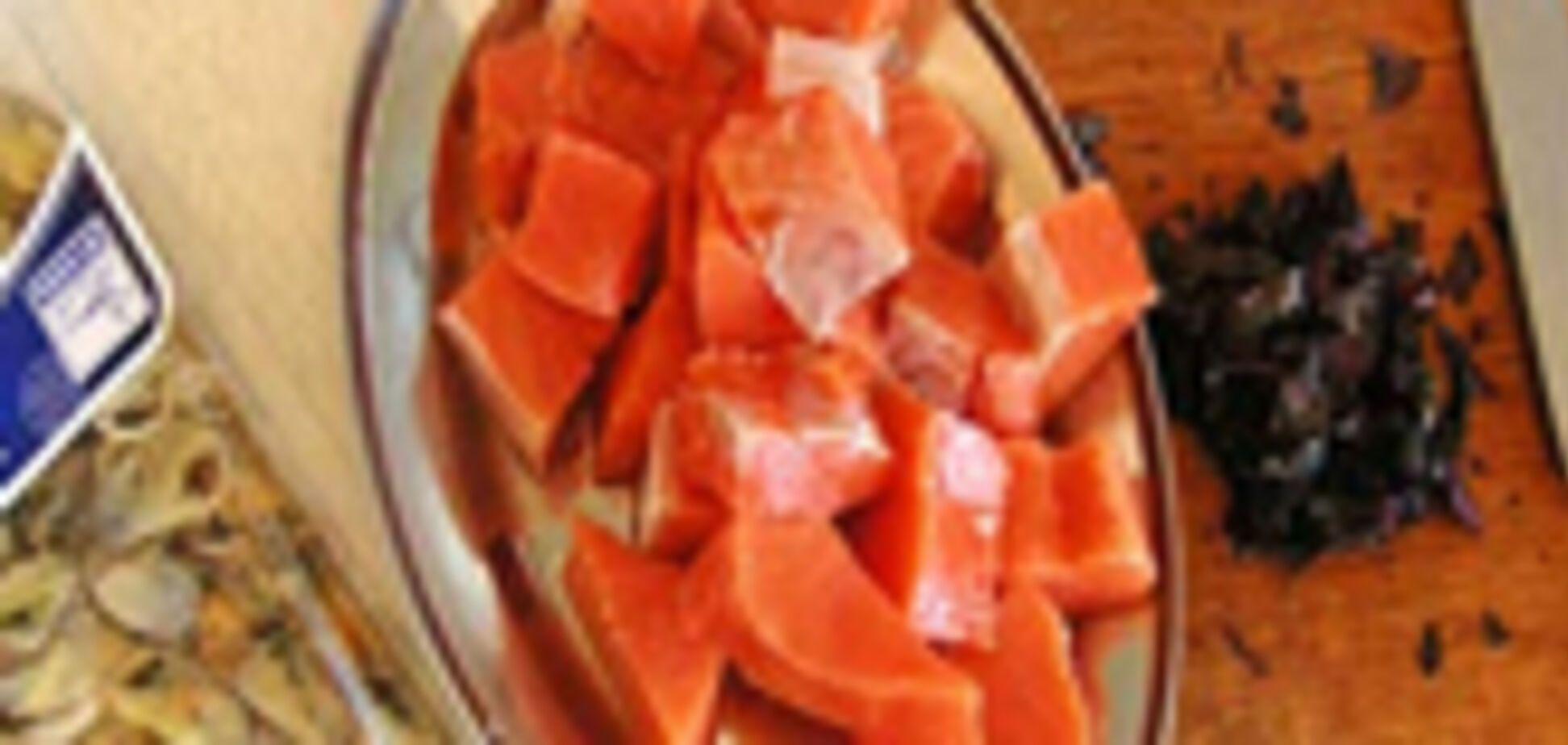 Рецептег на обедег. Лососева пахлебка з мідіям