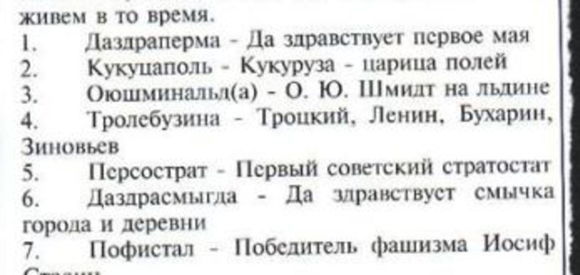 Даздраперма, Кукуцаполь. Вибирайте, як назвати