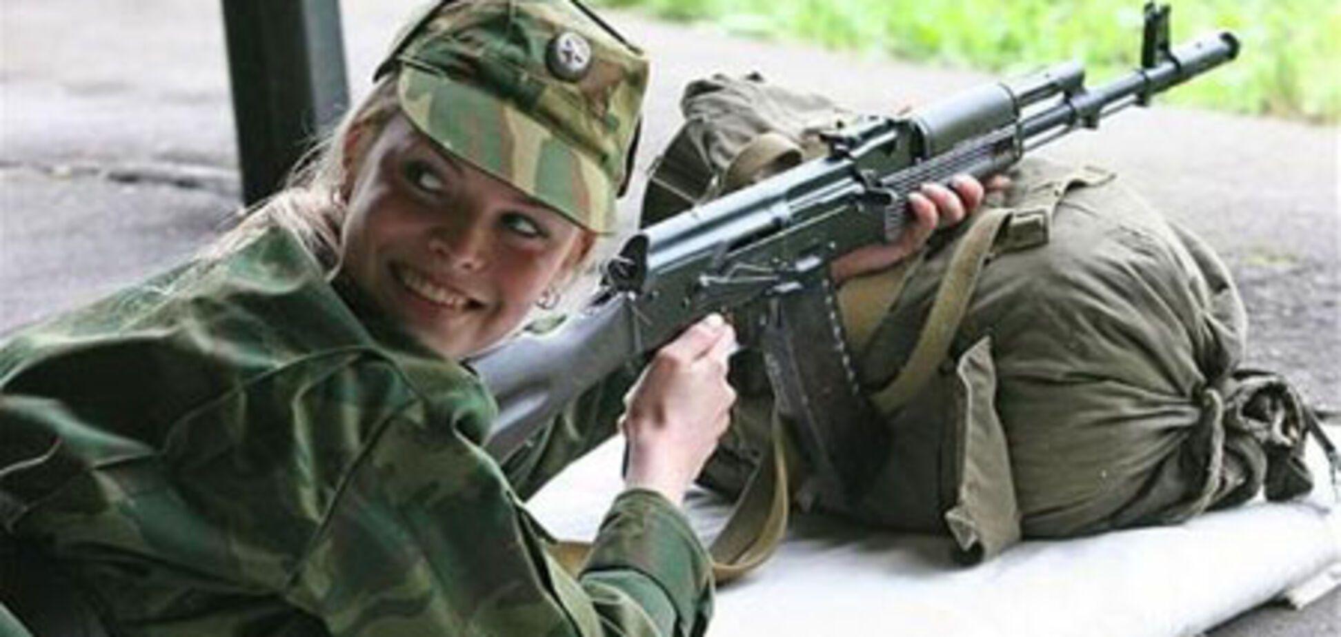 Вибираємо Міс російська армія. Команду 'лягай' не розуміє