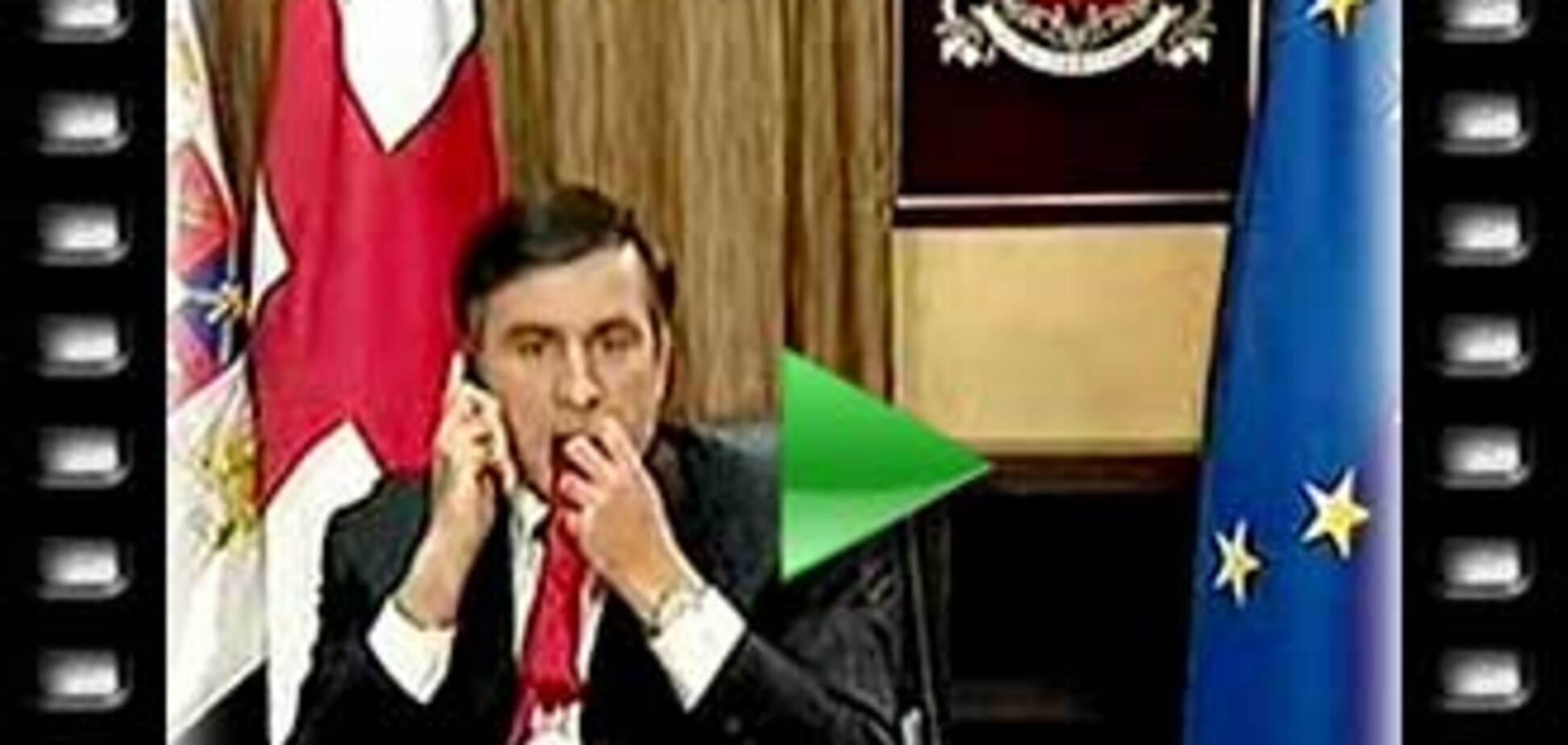 Саакашвили прожевал свой галстук (ВИДЕО)