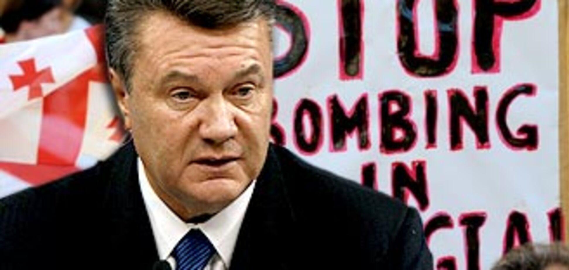 Янукович высказался по войне в Грузии