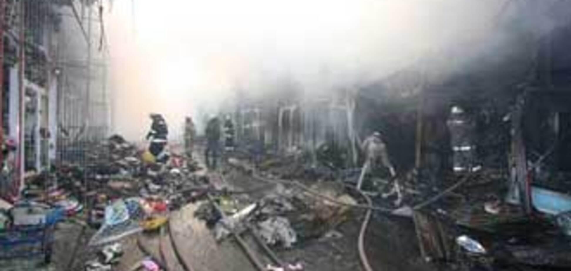 В Харькове снова горел рынок 'Барабашово'