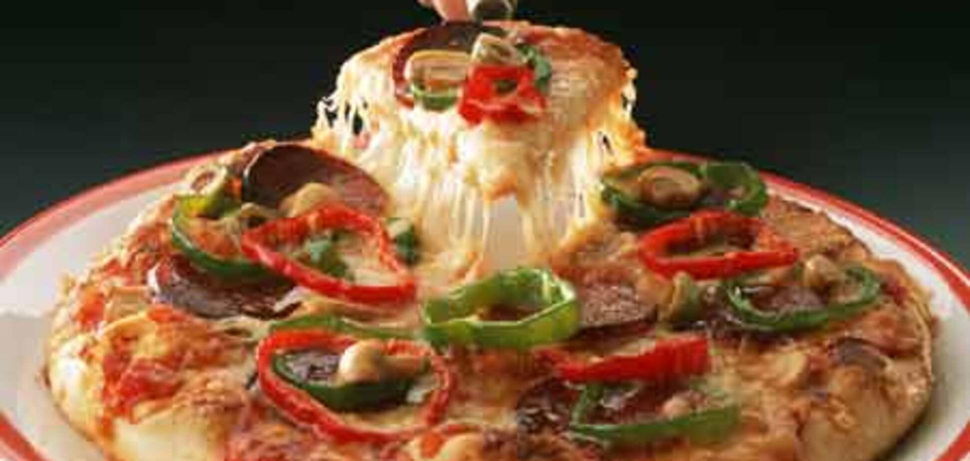 Запустили трехмерную рекламу пиццы