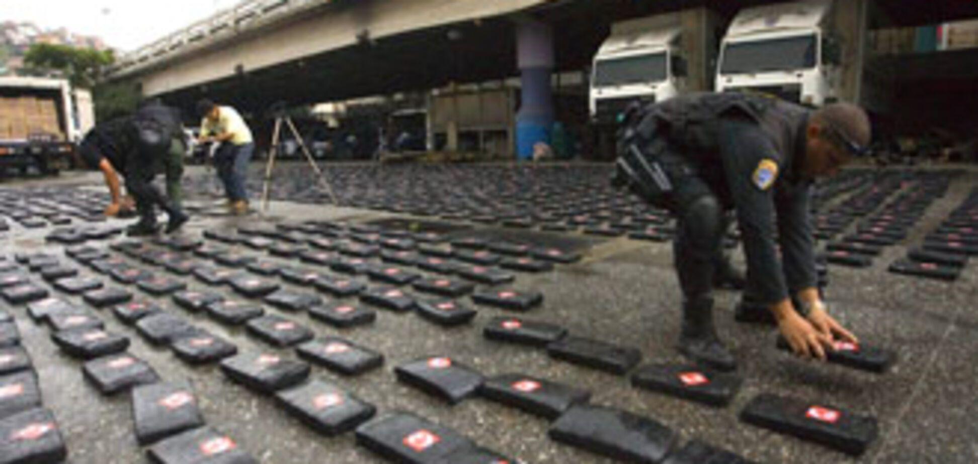 Поліція Колумбії конфіскувала півтори тонни кокаїну