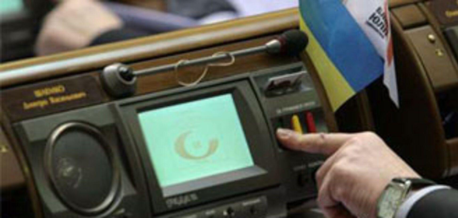 Рада продолжает расматривать закон о выборах Президента