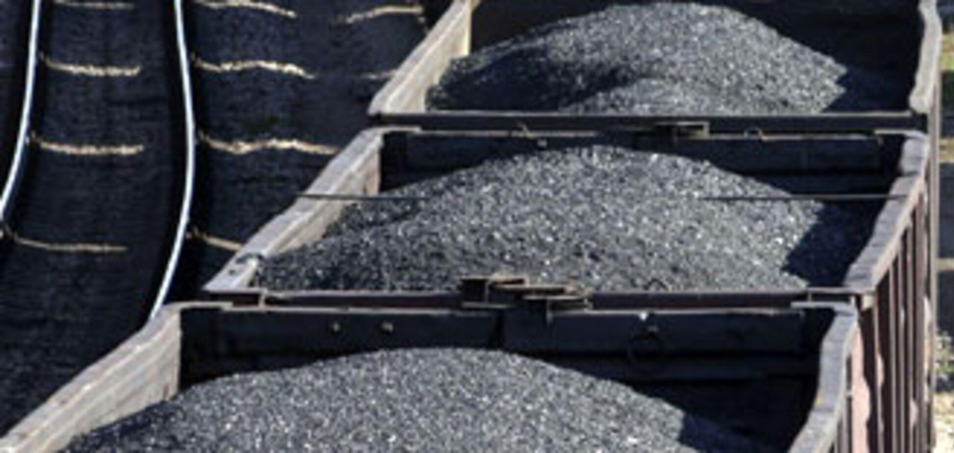 Добыча угля в Украине сокращена