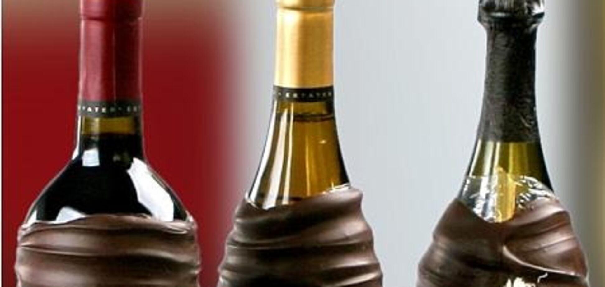 В продаже появилось вино в шоколадных бутылках
