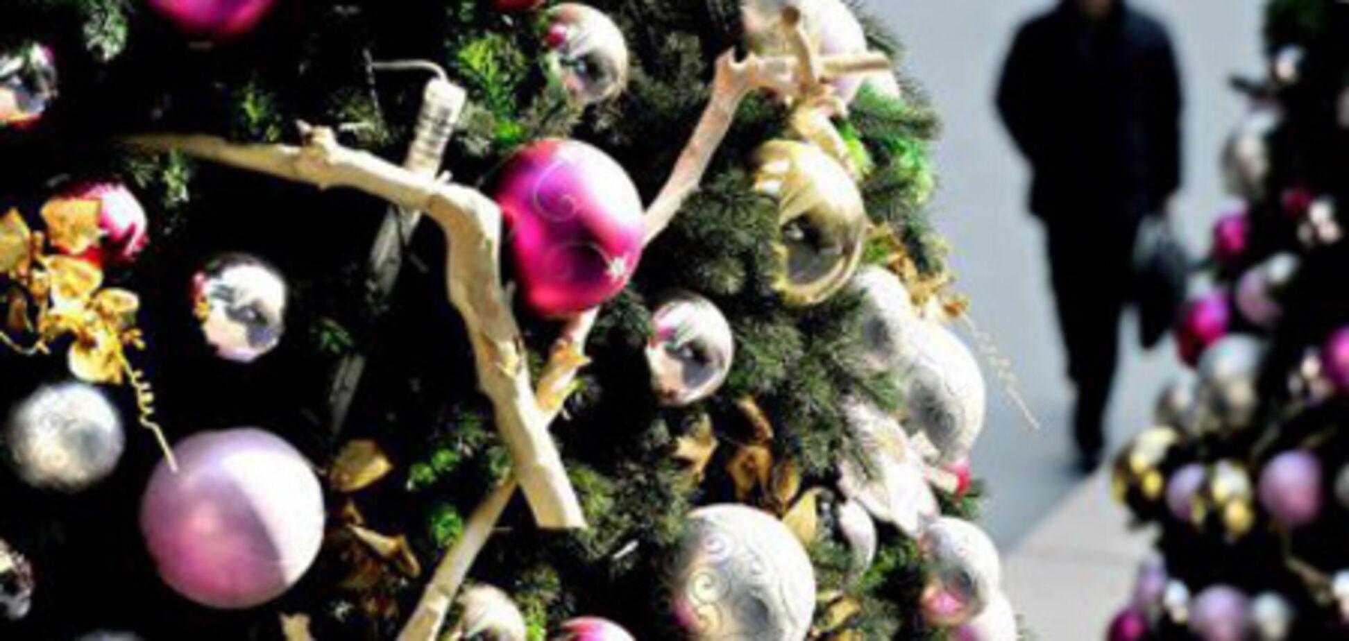 Пьяная россиянка украла с площади новогоднюю елку