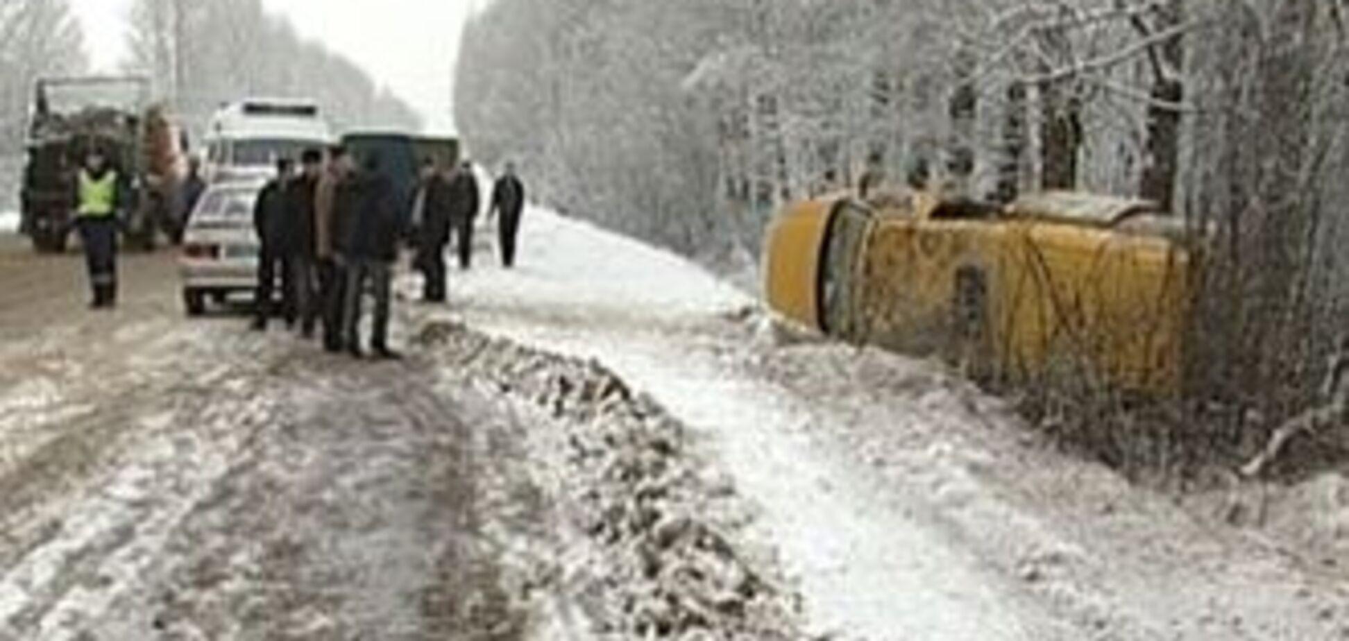 В Кривом Роге маршрутка врезалась в дерево, 7 пострадавших