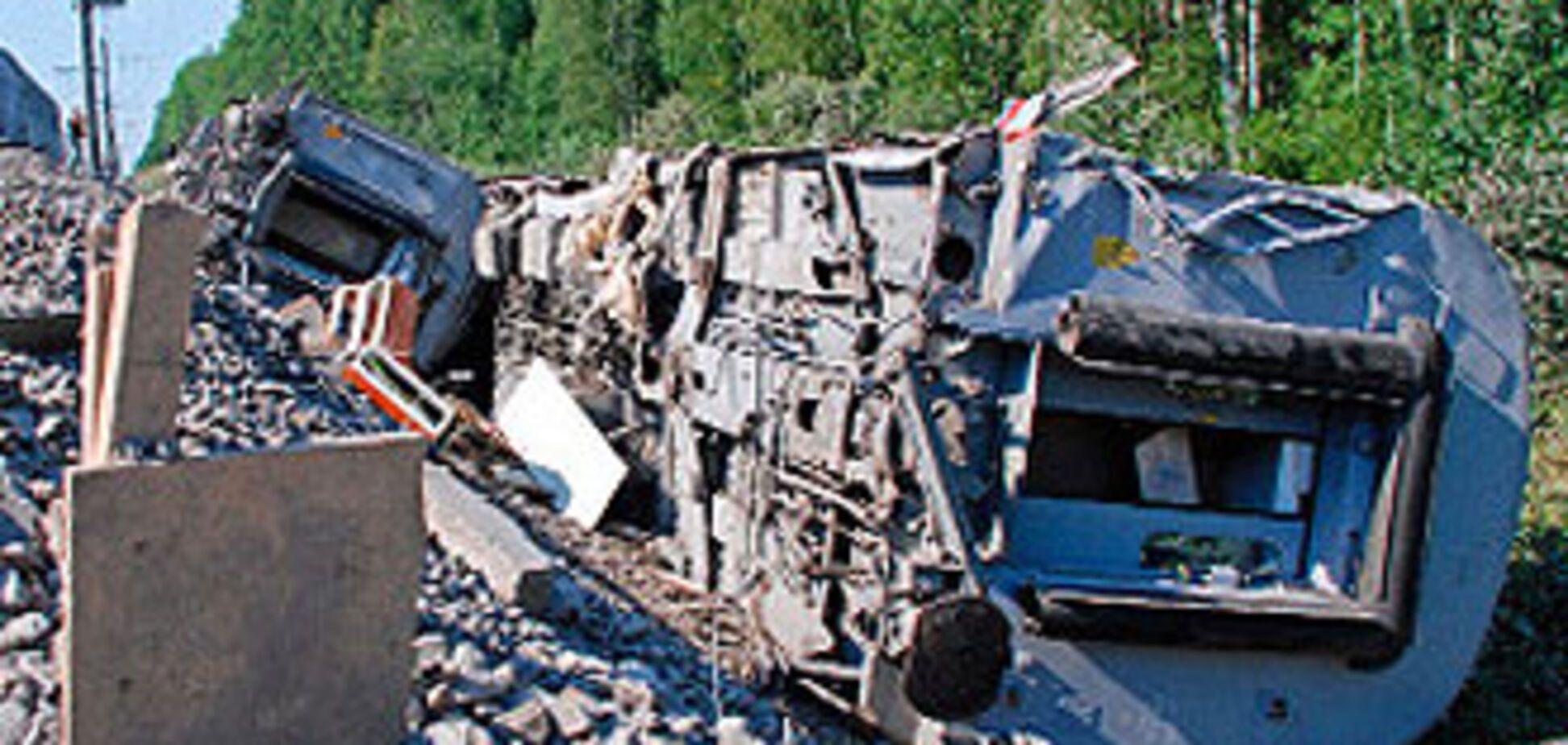 У Дагестані пустили під укіс російський потяг
