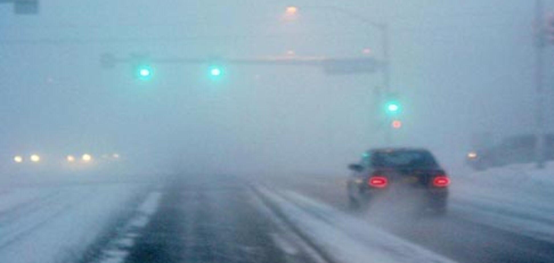 МЧС предупреждает: на дорогах туман и гололед