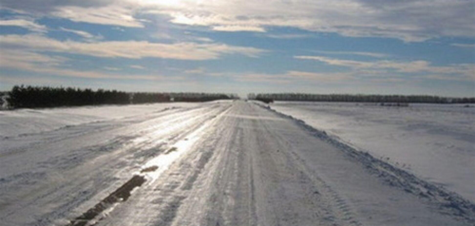 Киев забыл, что такое гололед: 8 авто в одной куче
