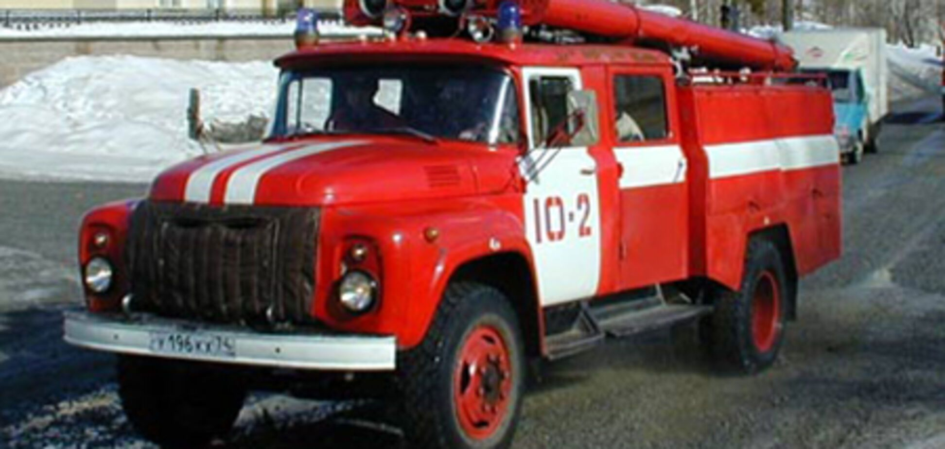 Угонщик заснул в краденой пожарной машине