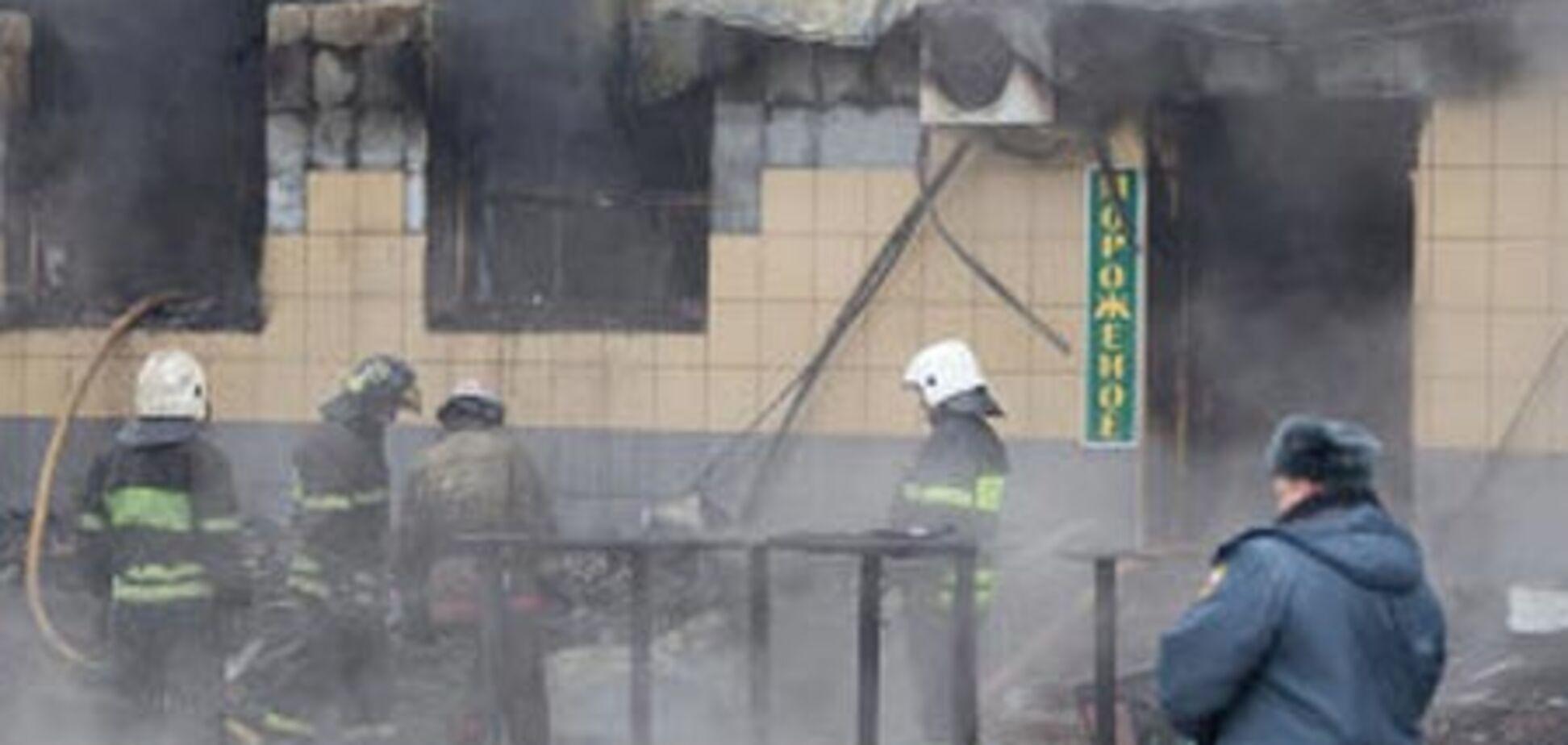 Пожар возле Белорусского вокзала в Москве потушен