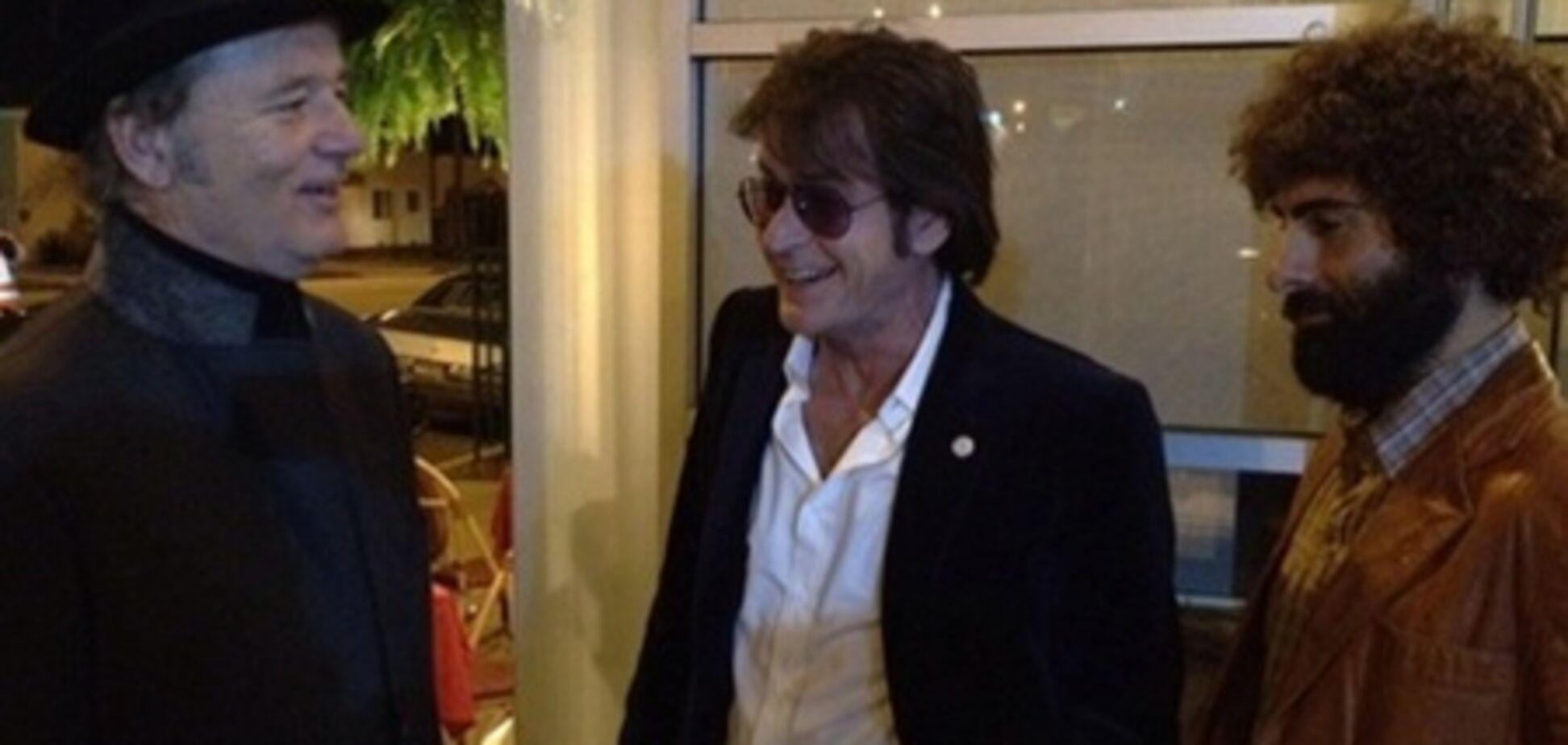 Чарли Шин показал фото со съемок нового фильма