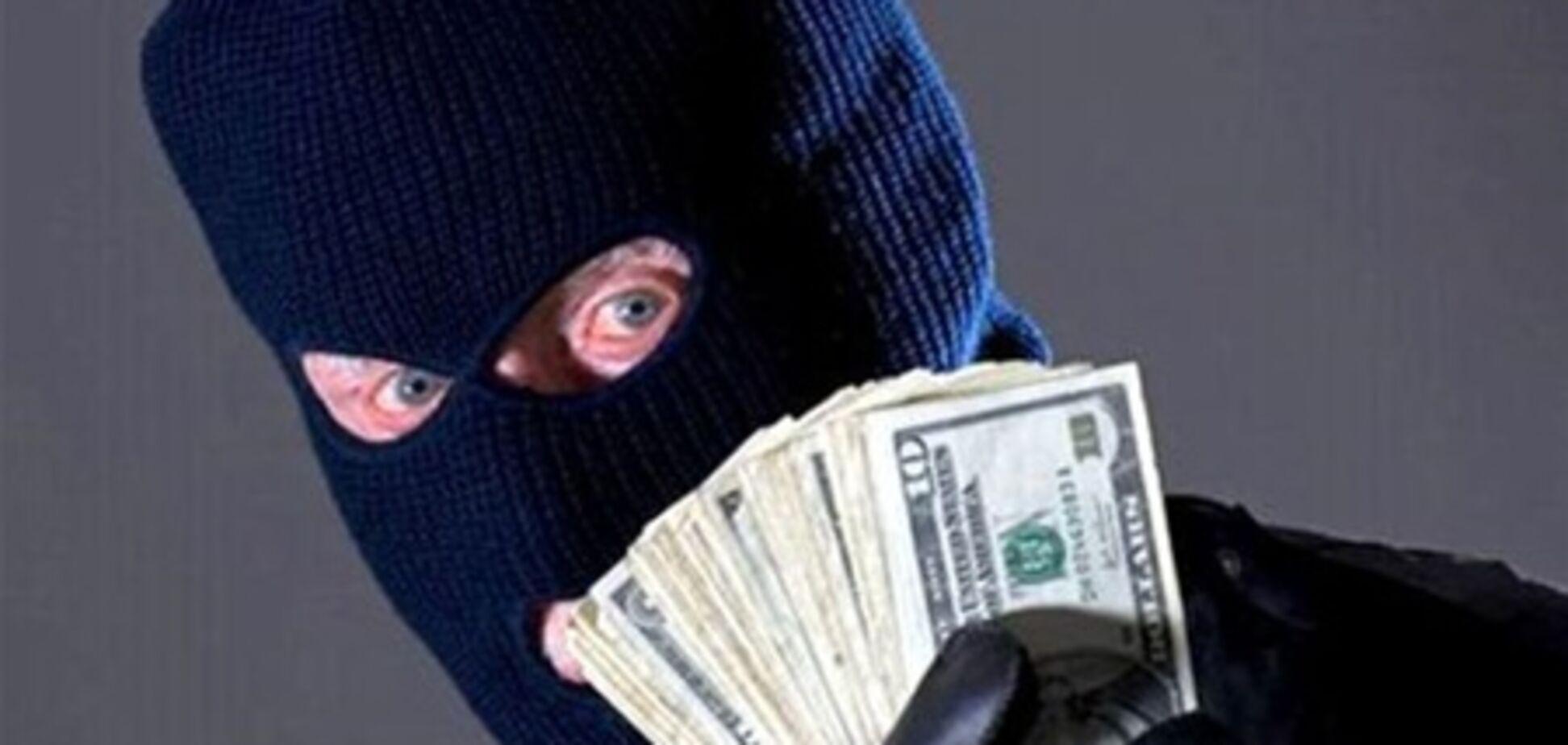 В Донецке грабители вынесли из банка более 1 миллиона гривен