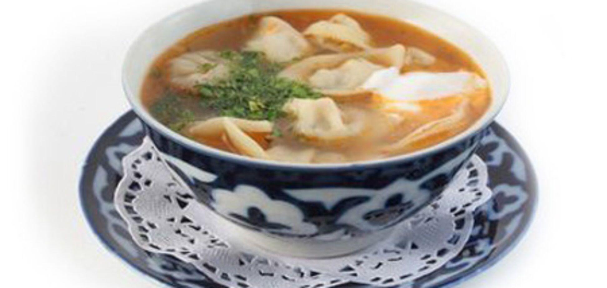 Чучвара ош (суп с пельмешками)