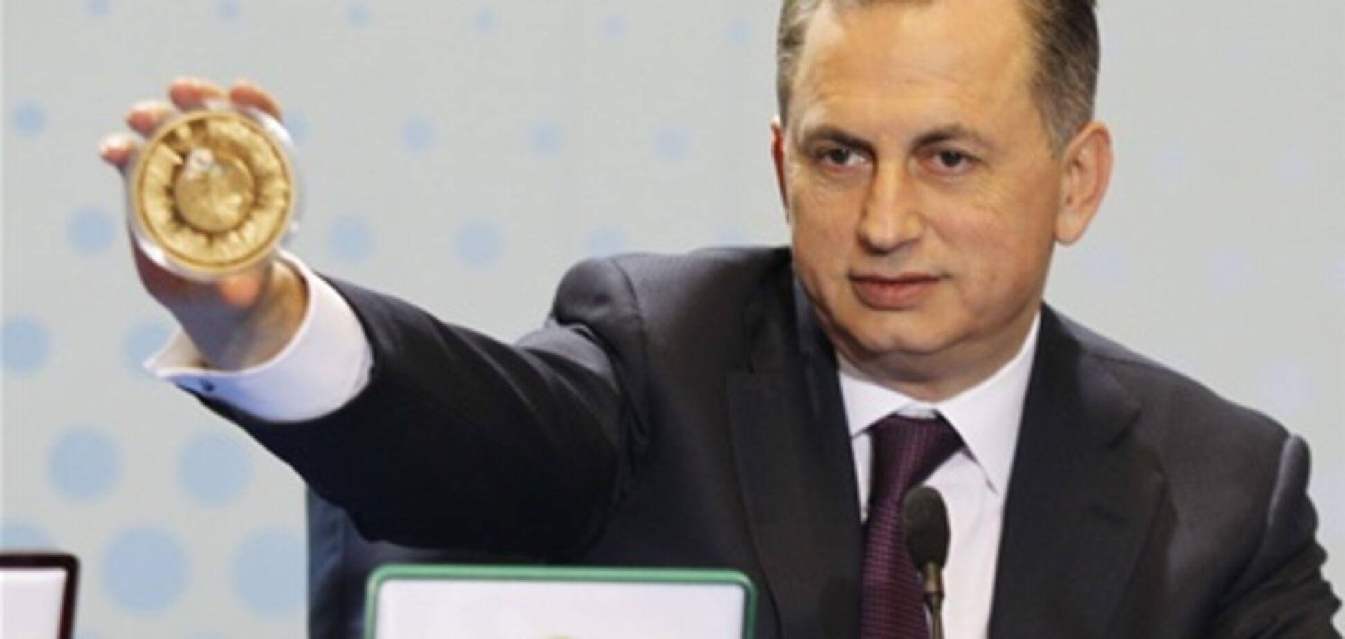 Колесников презентовал юбилейные монеты к Евро-2012