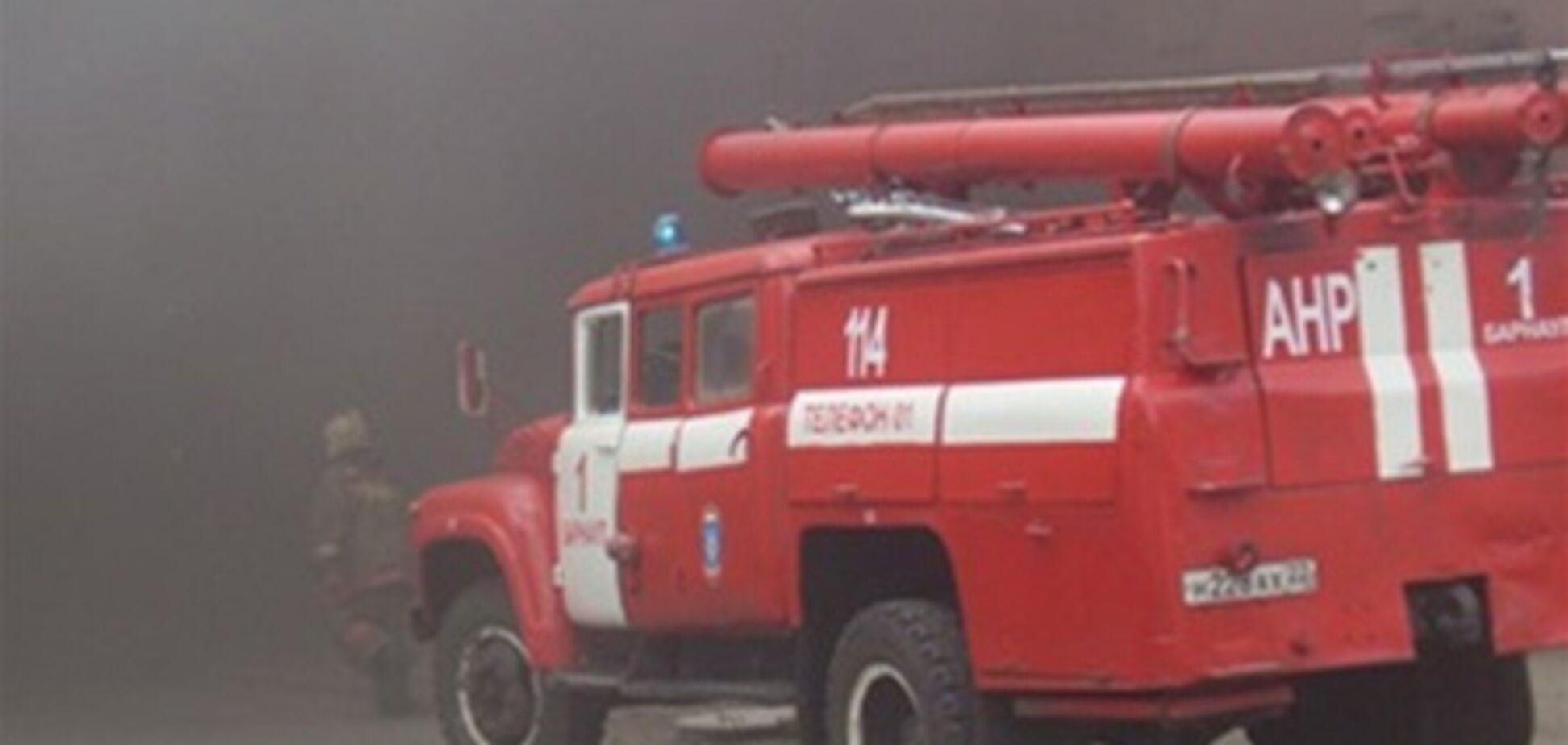 Пожар в центре Киева. ВИДЕО