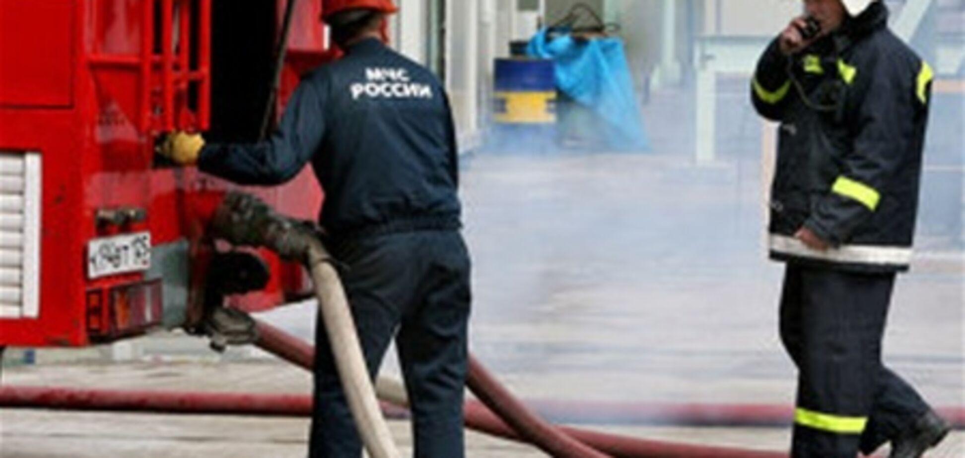 У центрі Москви загорілася будівля: евакуйовано 500 осіб